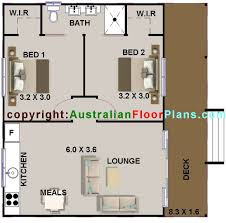 Timber Floor Plan by 58 M2 2 Bedroom 2 Bed Cabin Plans Two Bed Room Plans Two