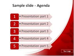 red and white template powerpoint metlic info