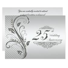 25th wedding anniversary invitations 25th wedding anniversary invitations zazzle