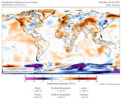 World Temperature Map by The Solar Harbinger Watts Up With That