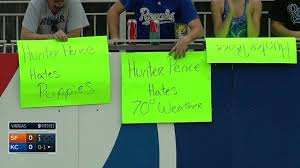 Hunter Pence Memes - sf kc royals fans tease pence with even more signs youtube