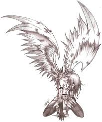 an angels pain sketch by mavericktears on deviantart