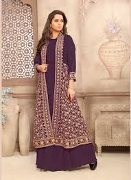 gown style dresses buy online gown style dresses germany purple georgette anarkali