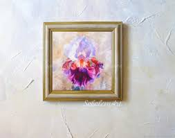 buy painting iris painting iris painting watercolor mural on the on the wall flower painting handmade livemaster handmade buy painting iris painting iris painting watercolor mural