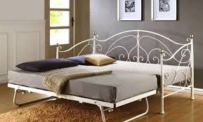 Black Daybed With Trundle Wrought Iron Daybed Wyskytech