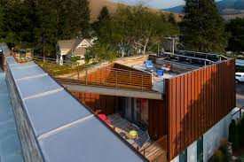 sustainable house integrates a roof terrace by chris pardo design