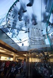 thanksgiving day store sales shoppers are pictured inside an apple store on 5th ave during