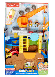 fisher price little people work together construction site set