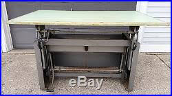 Steel Drafting Table Industrial Desk O Matic Drafting Table Island Shop Architect