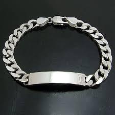mens silver solid bracelet images Mens personalised id bracelet 925 solid silver engraved ref mid32 jpg