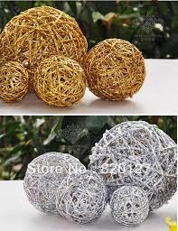 6cm handmade rattan wicker balls vase filler table scatter wedding