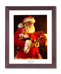 amazon com old st nick santa clause christmas picture framed art