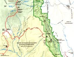 capitol reef national park map burr to circle cliffs