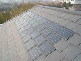 piastrelle fotovoltaiche pannello per coperture in ardesia con pannelli fotovoltaici