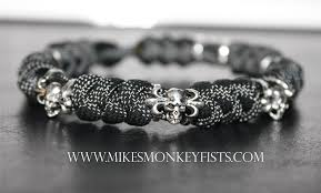 bracelet beads silver images Paracord bracelet with specialty skull beads gif