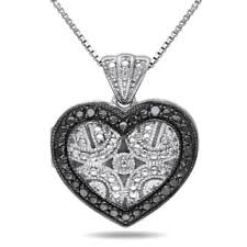 black diamond necklace pendant images Black diamond necklaces for less jpg
