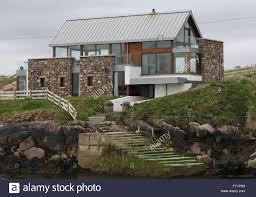 modern house on rutland island near burtonport stock photo