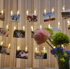 string lights with clips photo clip led string light starry photo holder string light