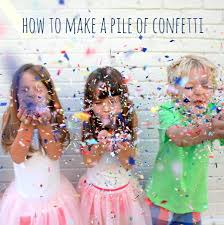 how to quickly make a whole pile of confetti