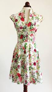 spring flower dress floral dress summer dress vintage style
