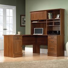 Computer Desk With Hutch Cherry Sauder Select Shaker Cherry L Shaped Desk 412750