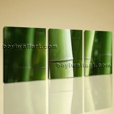 wall art print bamboo tree branches home decor green decorative