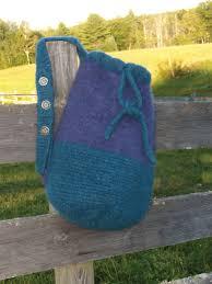 Rug Wool Yarn Penobscot Bay Felted Bag Geo Rug Wool Knitting Pattern