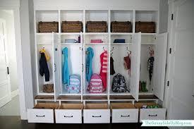 diy kids lockers diy mudroom locker