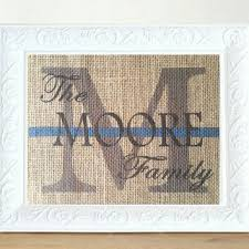 monogram wedding gifts personalized wedding gift thin blue line from allaboutthenames