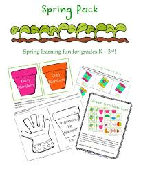 free worksheets spring learning fun printable pack for grades k