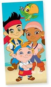 official disney jake neverland pirates beach bath cotton