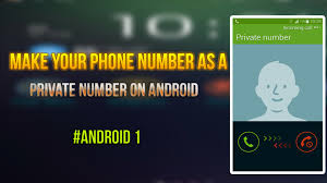 make your phone number as number on android