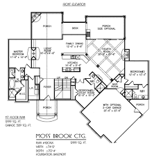 moss brook house plan two story master down custom floor plan