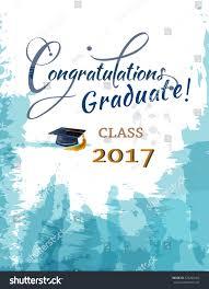 thanksgiving congratulations congratulations graduate class 2017 stock vector 526264162