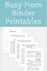 home planners busy mom home organization family binder printable cleaning
