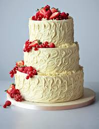 3 Tier Wedding Cake 3 Tier White Chocolate Swirl Wedding Cake M U0026s