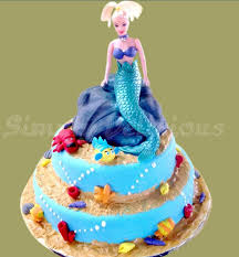 mermaid cakes two tier mermaid cake customized cakes simply delicious pune
