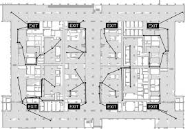 Fire Evacuation Floor Plan Emergency Evacuation Guidance Design For Complex Building