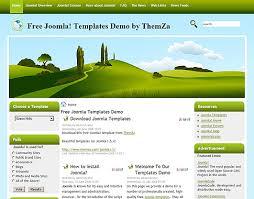 templates free joomla green hills free joomla template from themza