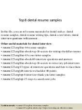 Dental Resumes Samples by Angela Smith Power Point Resume For Dental Assisting