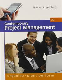 contemporary project management timothy j kloppenborg