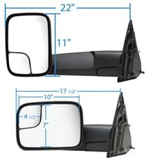 k source custom power heated towing mirror flip out