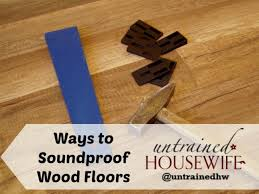 ways to soundproof wood floors