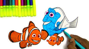 learn marlin nemo dory coloring pages from finding dory youtube
