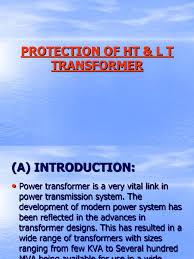 protection of ht u0026 l t transformer transformer relay