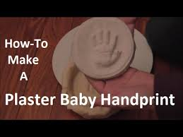 how to make a plaster baby handprint