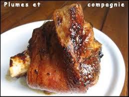 cuisine jarret de porc jarret de porc caramélisé au four plumes et compagnie