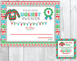 ugly sweater awards etsy