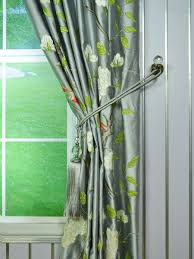Faux Silk Embroidered Curtains 63 Inch 96 Inch Gray Embroidered Bird Branch Grommet Faux Silk