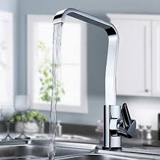 Modern Faucets For Kitchen Modern Solid Brass Kitchen Faucet Chrome Finish Faucetsuperdeal